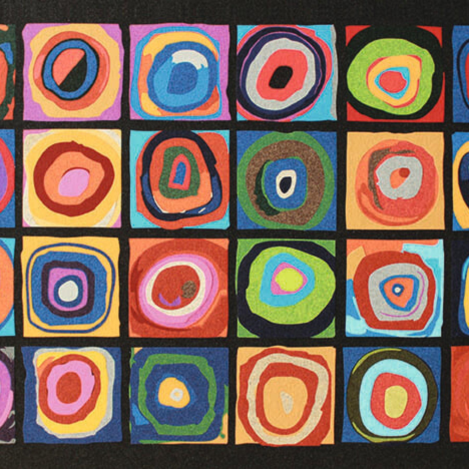 Farbstudie Quadrate | Wassily Kandinsky